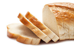 Sliced bread isolated over white Stock Photography