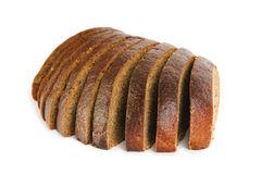 Sliced bread isolated on the white Royalty Free Stock Images