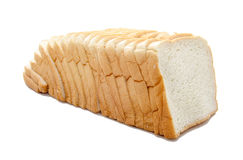 Sliced bread isolated on white Stock Image