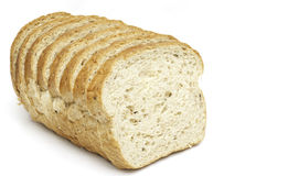 Sliced bread isolated Stock Photo