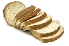 Sliced bread isolated Royalty Free Stock Photos