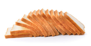 Sliced bread isolated on white background Royalty Free Stock Photos