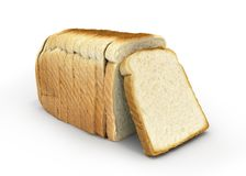 Sliced bread isolated on white background 3d royalty free illustration
