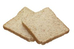 Sliced bread. Isolated on white background Stock Image