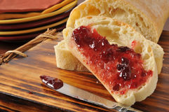 Sliced bread with jam Royalty Free Stock Images