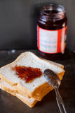 Sliced bread with jam Royalty Free Stock Image