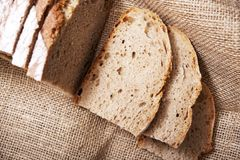 Sliced Bread on Linen Royalty Free Stock Photos