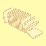 Sliced bread loaf, sketch illustration, vector 10 EPS Stock Photos