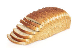 Sliced bread loaf. A loaf of sunflower and chia seed bread Stock Photos