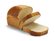 Sliced Bread. Sliced Loaf of Wheat Bread Isolated on White Background Royalty Free Stock Photography