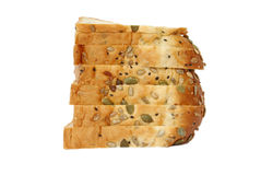 Sliced bread with mixed seeds Stock Images