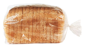 Sliced bread. In plastic bag Royalty Free Stock Image