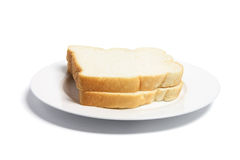 Sliced Bread on Plate Royalty Free Stock Images