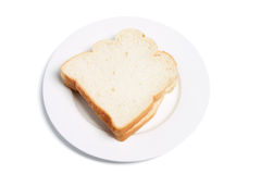 Sliced Bread on Plate Royalty Free Stock Photos
