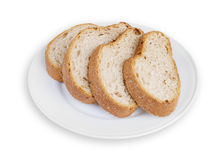 Sliced Bread on Plate Royalty Free Stock Photography