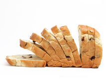 Sliced bread with raisin Royalty Free Stock Photos