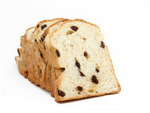 Sliced bread with raisin Royalty Free Stock Photo