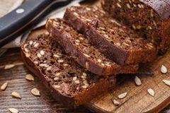 Sliced bread with seeds Royalty Free Stock Photos