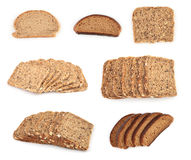 Sliced bread series Stock Images