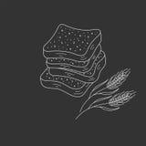 Sliced bread vector illustration. Royalty Free Stock Photos