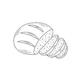 Sliced bread vector illustration. Royalty Free Stock Photo