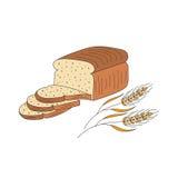 Sliced bread vector illustration. Royalty Free Stock Image