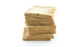 Sliced bread. Wheat   on white background Stock Image