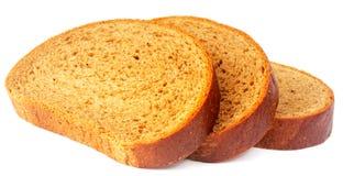 Sliced bread on white Stock Images
