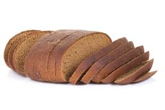 Sliced bread on white Royalty Free Stock Photos