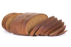 Sliced bread on white Royalty Free Stock Photos