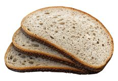 Sliced bread. On a white background stock photography