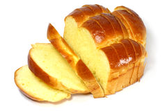 Sliced bread. On white background Stock Photography
