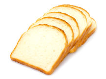 Sliced bread. On white background Stock Photos