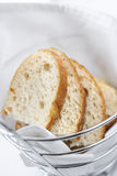 Sliced Bread in Wire Basket Royalty Free Stock Photos