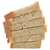 Sliced Brown Bread Isolated on White Background Royalty Free Stock Images