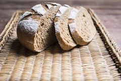 Sliced brown bread Royalty Free Stock Photos