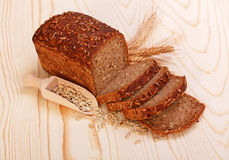 Sliced brown bread with seeds Royalty Free Stock Images