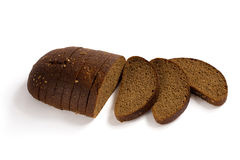Sliced brown rye bread Royalty Free Stock Photos