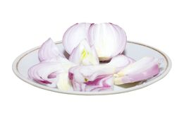 Sliced bulb onion Stock Image
