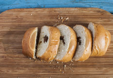 Sliced bun Royalty Free Stock Photography