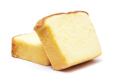 Sliced butter cake Royalty Free Stock Photography
