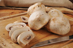 Sliced button mushrooms Stock Photography