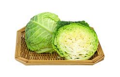 Sliced Cabbage Basket Stock Images