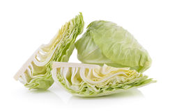 Sliced cabbage on white background Stock Images