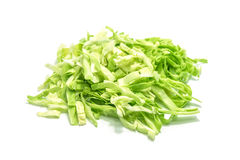 Sliced cabbage on white background. Royalty Free Stock Photos