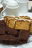 Sliced cake loaf Stock Photography