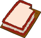 Sliced Cake Over White Royalty Free Stock Photo
