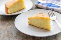 Sliced Cake. On the plate close-up image royalty free stock photo