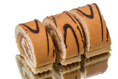 Sliced cake roll Stock Image