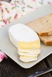 Sliced camembert cheese Royalty Free Stock Photo